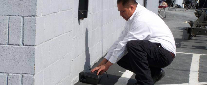 pest professional setting trap